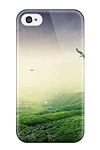 Special CaseyKBrown Skin Case Cover For Iphone 4/4s, Popular Green Landscape Phone Case