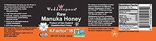 Wedderspoon Raw Premium Manuka Honey KFactor 16, 8.8 Oz, Unpasteurized, Genuine New Zealand Honey, Multi-Functional, Non-GMO Superfood, 2 Pack by Wedderspoon (Image #1)