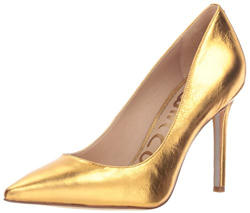 (Sam Edelman Women's Hazel Pump, Exotic Gold Distressed Leather, 7.5 M US)
