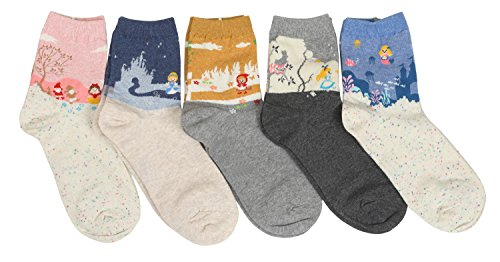 Women-Fairy-Tale-Cartoon-Crew-Socks