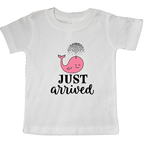 inktastic Just Arrived Baby Girl Whale Baby T-Shirt 24 Months White 2d606