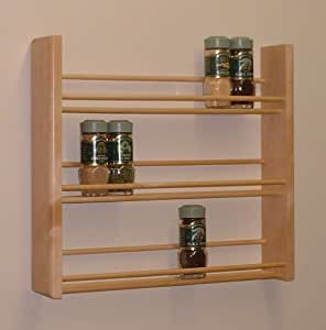 Spice Rack, Three Tier, Natural MADE IN USA