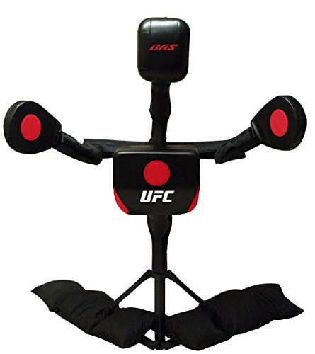 BAS UFC Body Action System Deluxe - Professional Freestanding Home Training Equipment System for MMA, Kickboxing, Muay Thai and Martial Arts - Adjustable Punching and Kicking Pads (Best Boxing Equipment For Home)