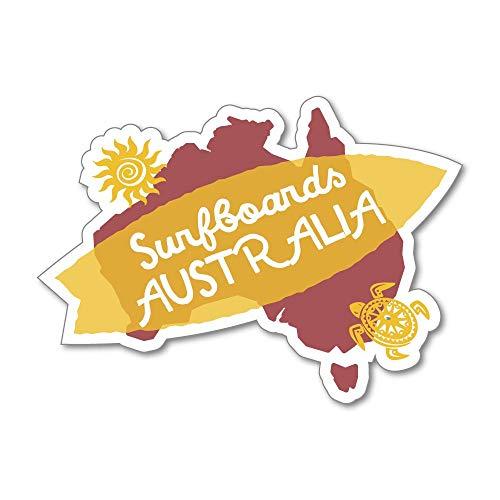 Surf Vintage Retro Ocean Australia Sticker Decal Vintage Luggage World Travel