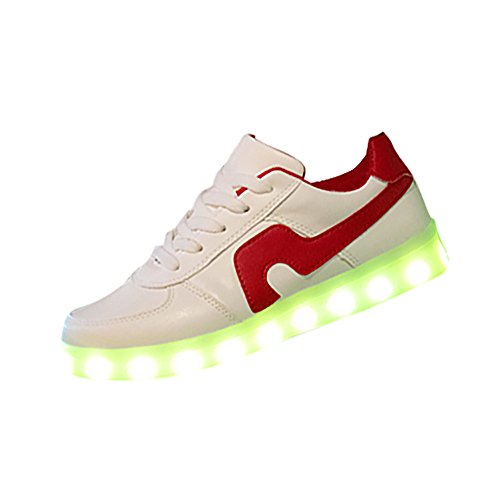 Birdfly Fashion Chinese Style Kungfu Martial Simple Rubber Sole Material youngth Love Shoes With LED Light (US:6)
