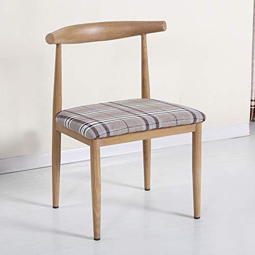 Nordic Eisen Rindhorn Stuhl, nachgemachte Massivholz einfach Esszimmerstuhl, ein Café, ein westliches Restaurant, Freizeitstuhl, alte Ulme