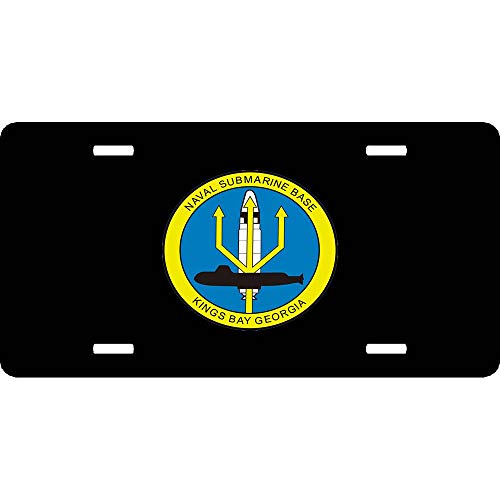 - Naval Submarine Base Kings Bay, Georgia Military Customized Military Auto Car Front Tag Aluminum Metal License Plate Cover Great Vanity Gift 12 x 6 Inch