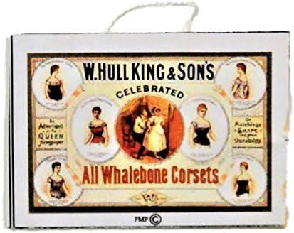ドールズハウスビクトリアンホエールボーンコルセットショップポスター1:12スケールストアアクセサリー