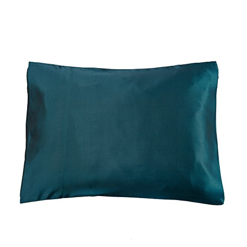 LilySilk 3101-11-30x40 100% Silk Pillowcase for Travel Pillows, 12 x 16, Dark Teal