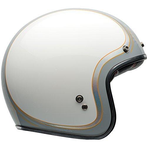 Bell White Sports Helmet Face (Bell Helmets Unisex-Adult open-face-helmet-style Motorcycle Helmet (White/Gray, Medium))