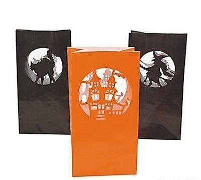 12 Halloween silueta bolsas para velas vela luz su casa ...