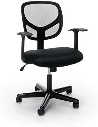 Essentials Swivel Mid Back Mesh Task Chair With Arms   Ergonomic Computer/Office  Chair (