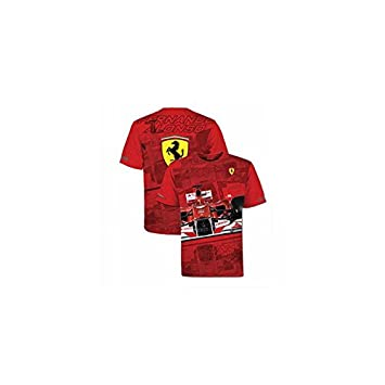 Ferrari Camiseta Hombre Fernando Alonso Casco Rojo