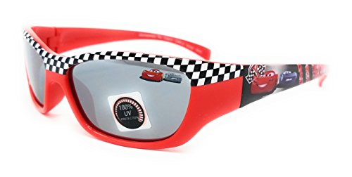 Disney Pixar Kids Cars Sunglasses in Red with Black and White - Checkered Glasses