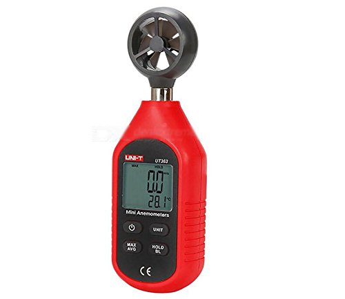 UNI-T UT363's High Precision Digital Anemometer - Red + Deep Grey - 1