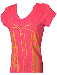 Ladies Guayabera Cotton T Shirt Made in USA