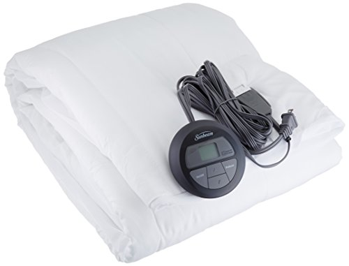 Sunbeam Quilted Heated Mattress Pad with SleekSet Controller, Twin Sunbeam Twin Electric Blanket
