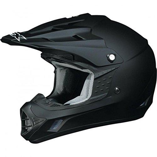 AFX FX-17 Unisex-Adult Off-Road-Helmet-Style Helmet (Flat Black, XX-Large)