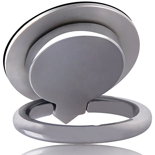 【Gift Ideas】3 in 1 Fidget Spinner Phone Ring Holder Stand,Casegory Stylish Finger iPhone Ring 360° Zinc Alloy Cell Phone Grip For iPhone 8 7 6s Plus 5s Galaxy S8 ipad Smartphone and Tablet -Silver