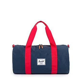 Herschel Supply Co. Sutton Mid Duffle Duffel Bag, Navy/Red, One Size