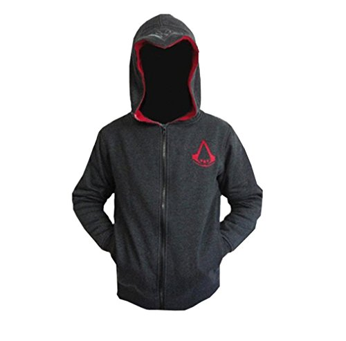 Assassins Creed 2 Costumes (Elegant Men's Assassin's Creed Fleece Hoodie Sweatshirt Cosplay Costumes (US M=Asia XL(Chest 44.1