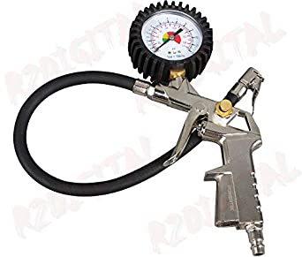 pistol type lock on air chuck with dial tire