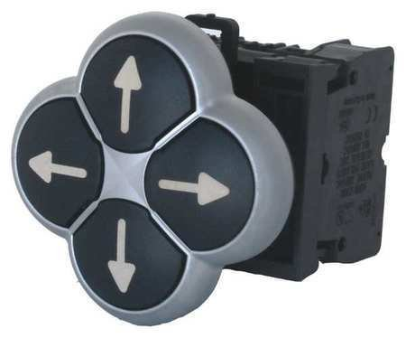 X7 Arrows (Eaton M22-d4-s-x7 Push Button, Non-illuminated,)