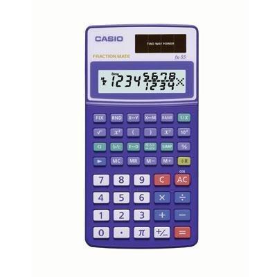 amazon com casio fx 55 scientific calculator with true fraction rh amazon com casio fx-55 plus manual casio fx-55 fraction mate manual