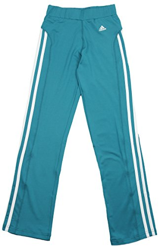 Adidas Big Girls Yoga Pants with Stripes