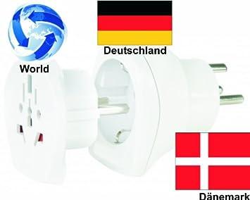 Baumarkt Dänemark design reiseadapter welt adapter auf dänemark deutschland 2er set