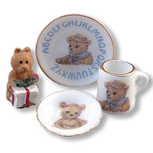 Reutter Porcelain Dollhouse Miniature ABC Breakfast Set