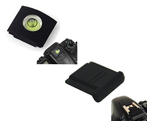 CEARI Hot Shoe Protective Cap + Bubble Balancer Gradienter Kit for Canon Rebel XS XSi XT XTi SL1 T1i T2i T3i T3 T4i T5i T5 T6i T6 T6s 60D 70D 6D 7D 5D Mark II III + MicroFiber Clean Cloth
