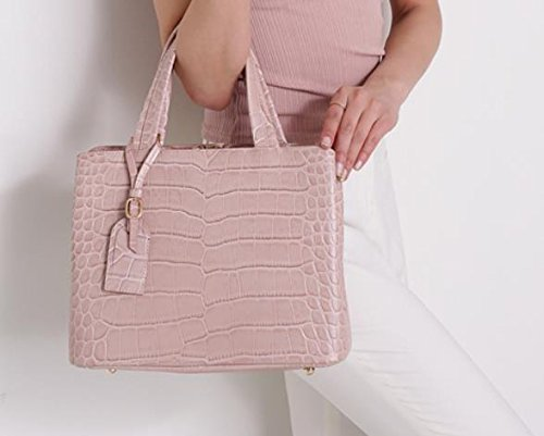 Bellina Wani Tote Shoulder Bag BB1218 (Pink) by Pristine&BB (Image #7)