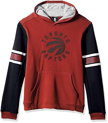 (NBA by Outerstuff NBA Youth Boys Toronto Raptors Man in Motion Color Blocked Pullover Hoodie, Red, Youth Large(14-16))