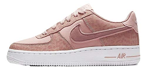 Nike Girls Air Force 1 LV8 (PS) Coral Stardust/Rusty Pink-White Sneaker AH7529 600 (US 2 Y)