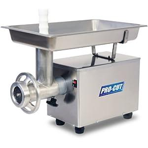 PRO-CUT KG-12-FS Food Service Meat Grinder, 12 Different Plates, 3/4 HP, 110V, 60 Hz