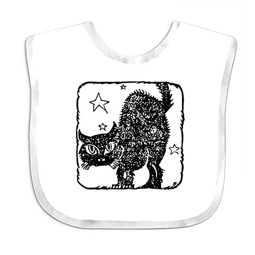- Baby Bibs Baby Bandana Drool Bibs for Drooling and Teething, 100% Organic Cotton, Super Absorbent (Funny Black Cat Baby Bibs - Cotton Terry Baby Terry Bib, One Size White)