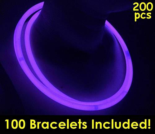 Purple Glowsticks - Glow Sticks Bulk Wholesale Necklaces, 100