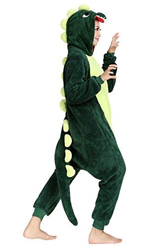 Duraplast Adult Halloween Dragon Costume One-Piece Hooded Onesie (Funny Halloween Couple Costumes Ideas)