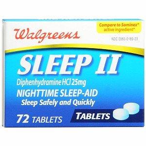 Walgreens Sleep II Nighttime Sleep-Aid Tablets, 72 ea