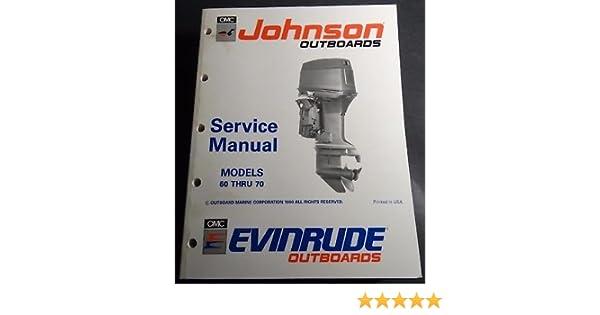 1993 OMC JOHNSON EVINRUDE 60 THRU 70 SERVICE MANUAL P N