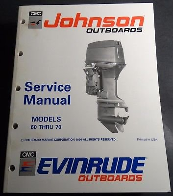 1993 OMC JOHNSON EVINRUDE 60 THRU 70 SERVICE MANUAL P/N 508284 -