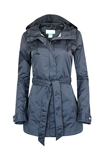 COLUMBIA WOMENS Shine Struck RAIN JACKET NAVY - Front Womens Storm Jacket