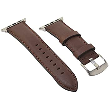Deepra Horween Leather Brown Band - Compatible with 42mm Apple watch