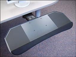 Systematix DPPLFSS21T 27 in. Slimline All-in-One Phenolic Keyboard Platform & Lever Free Sit-Stand Arm
