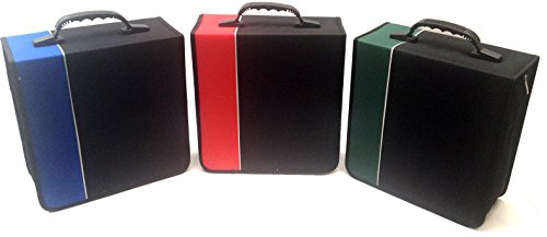 Boostwaves Premium Cloth 360 Compact Disc CD DVD Blu-Ray Media Wallet Folder Carrying Case, Assorted Colors ()
