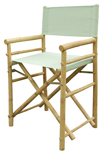 Bamboo 18 Inch Standard Height Directors Chairs with Solid -
