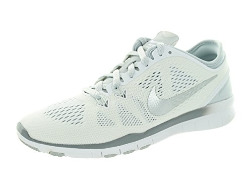 Women's Pltnm Prt Pr 5 Women Nike 5 Metallic US White Fit Silver Free Shoe 0 Tr Training a0wZdq