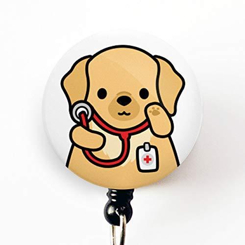 Nurse Gift Nurse Badge Reel Doctor Gift Veterinarian Badge Reel Golden Retriever Badge Reel Nursing Student Badge Reel Cute Badge Reel Golden Retriever ID Veterinarian Gift Doctor Badge Reel