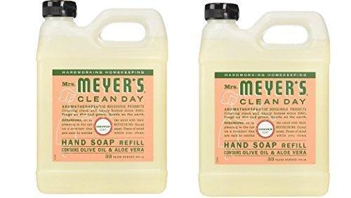 Mrs. Meyer's Clean Day Liquid Hand Soap Refill, Geranium, 33
